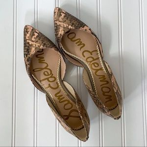 Sold - Rodney Snakeskin Embossed Pointy Toe